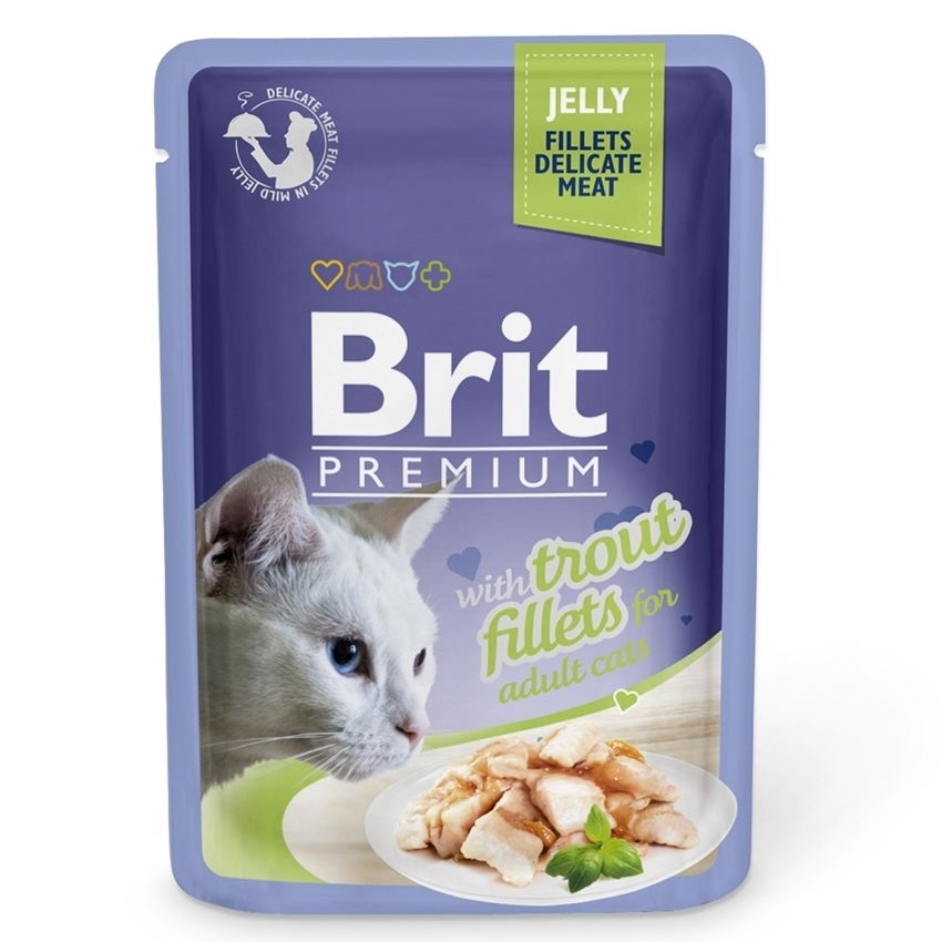 Brit Premium Cat Delicate Pastrav in Aspic, 85 g