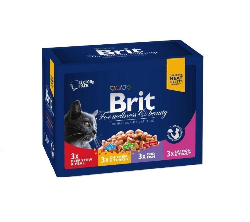 Brit Premium Cat Multipack Family Variety, 12 x 100 g
