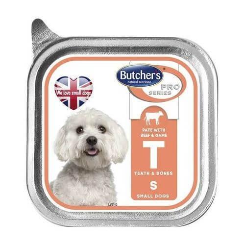 Pachet Butcher's Dog Pro Series Pate, Talie Mica si Medie, Vita si Vanat, 6x150 g