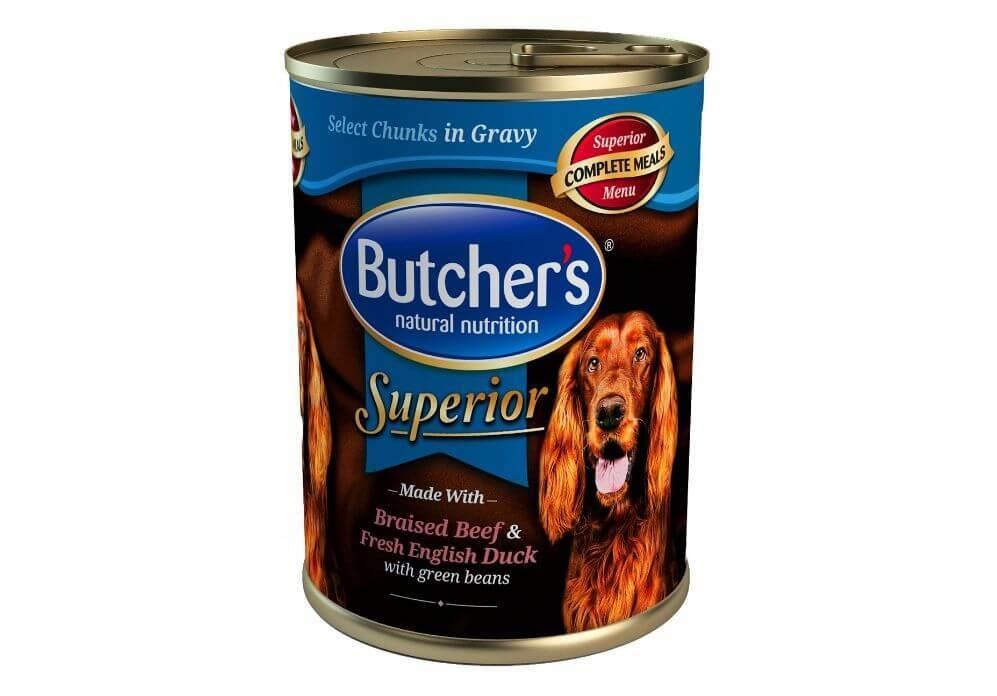Butcher's Dog Superior Pate, Vita, Rata si Mazare, 400 g