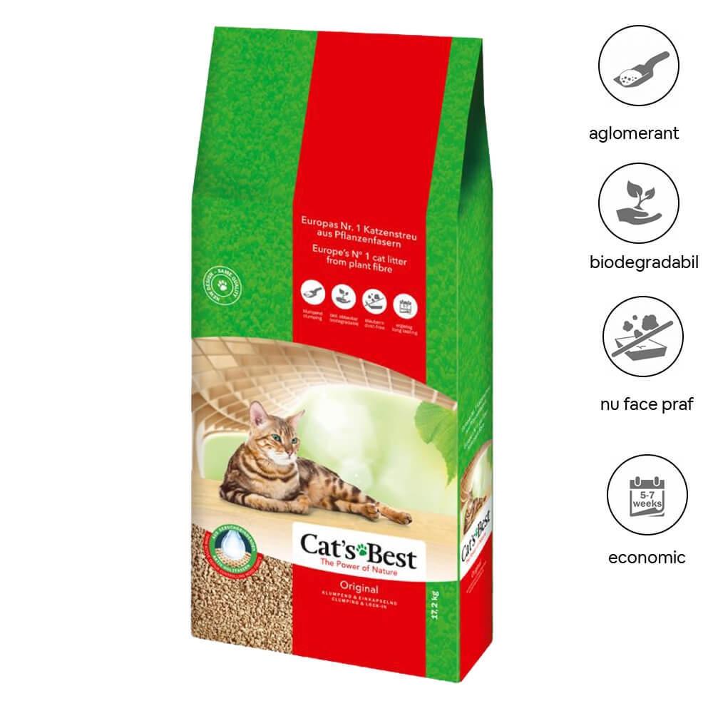 Asternut Igienic Cat's Best Okoplus 40 litri