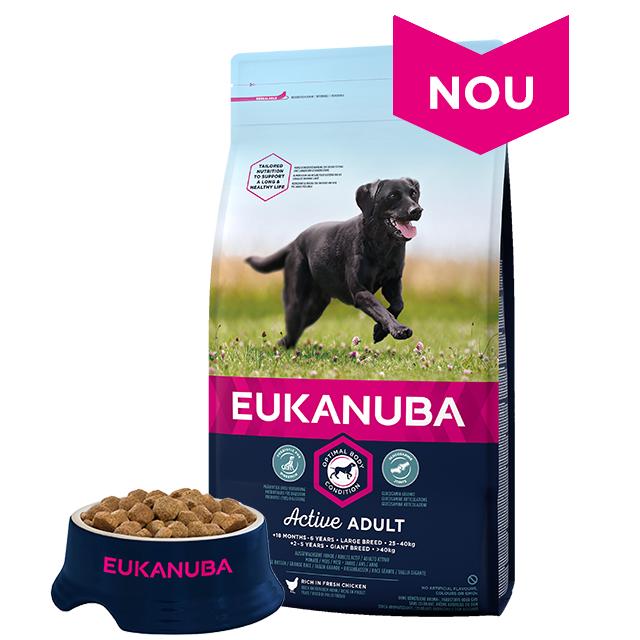 Hrana Uscata Pentru Caini Eukanuba, Adult Large cu Pui, 12 kg + 2 kg