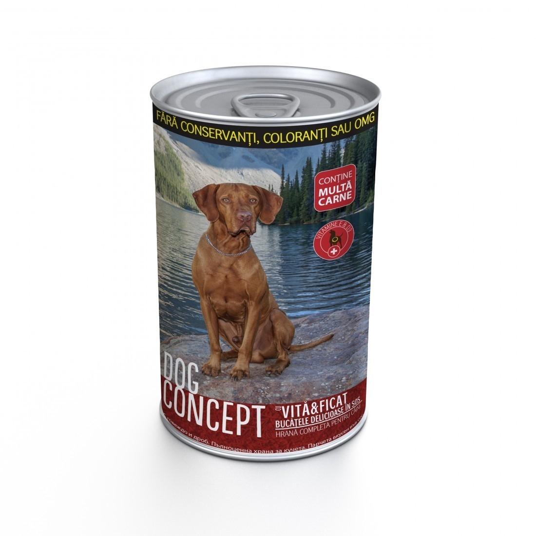Dog Concept Conserva Vita Si Ficat, 1.24 Kg