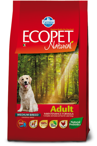 Ecopet Natural Adult Medium Breed 2.5kg