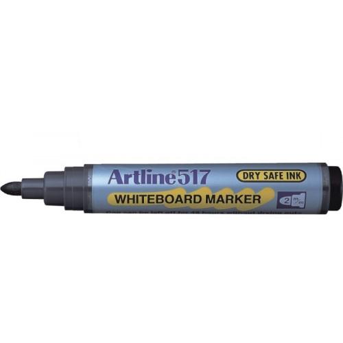 Whiteboard marker varf rotund, 2.0mm, corp plastic, ARTLINE 517 - verde
