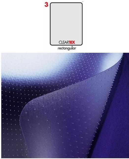 Covoras PVC transparent, pentru protectie parchet/gresie, 121cm x 152cm-forma rectangulara, FLOORTEX