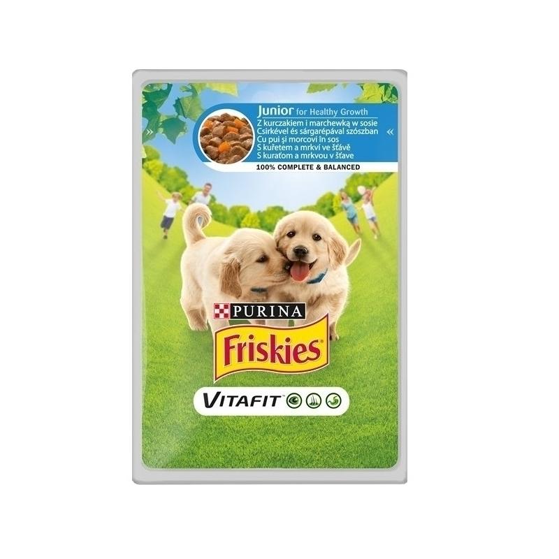 Friskies Junior Dog Pui si Morcovi, Plic 100 g