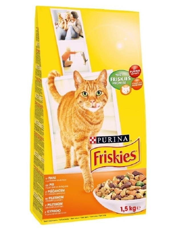 FRISKIES CAT PUI SI LEGUME, 1.5 KG