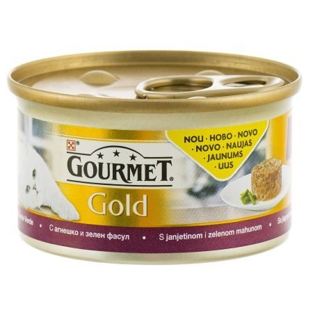 Gourmet Gold Savoury Cake cu Miel si Fasole Verde, 85 g