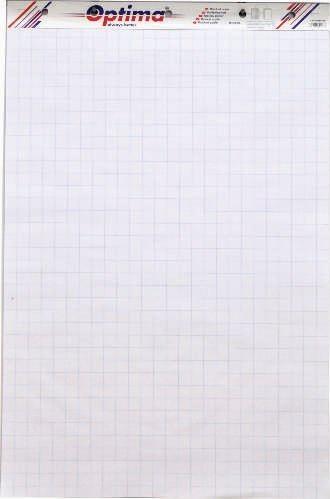 Rezerva hartie pentru flipchart, 50coli/top (cu microperforatii) Optima
