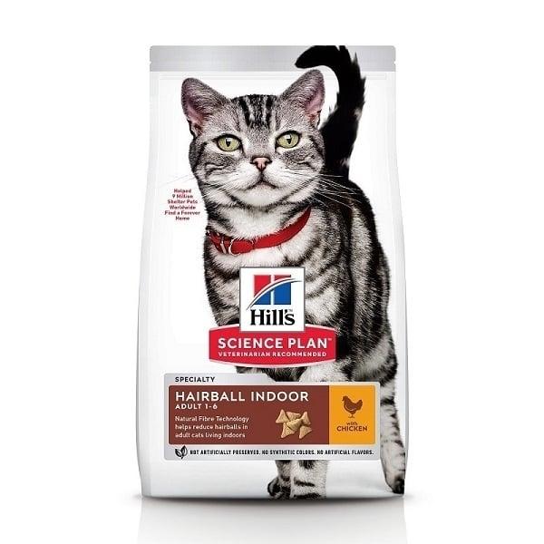 Hill's SP Feline Adult Hairball & Indoor, 1.5 kg