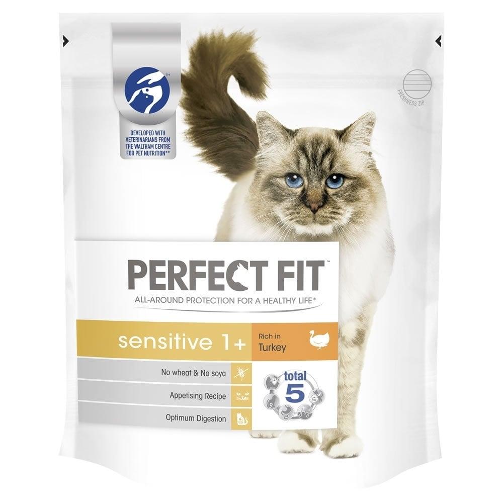 Perfect Fit Cat Sensitive cu Curcan, 7 kg