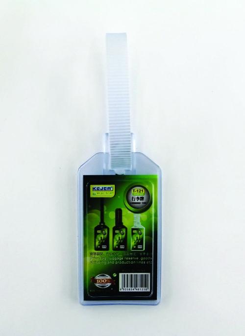 Porteticheta din PVC flexibil pentru bagaje, 54 x 90mm, KEJEA - transparent