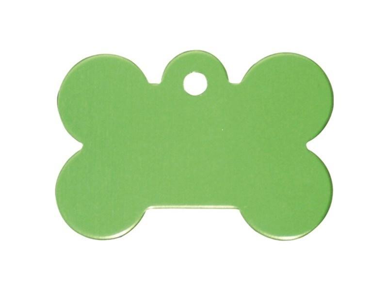 Medalion Aluminiu cu Gravare Gratuita, Os Verde Lime, Masura S
