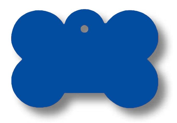Medalion Aluminiu cu Gravare Gratuita, Os Albastru - masura L