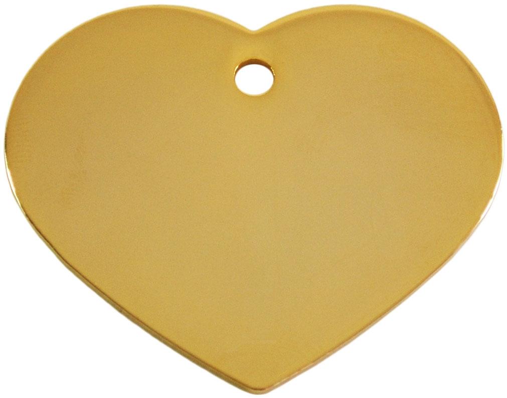 Medalion Inima cu Gravare Gratuita, Gold Large