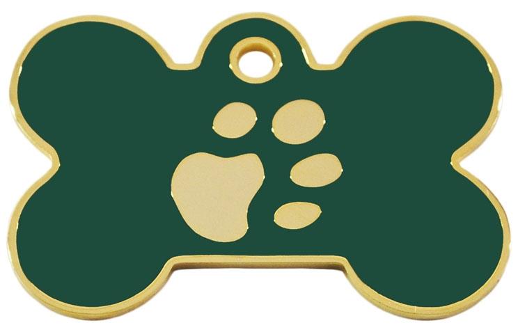 Medalion Os Labute, Auriu / Verde, Masura S - Gravare Gratuita