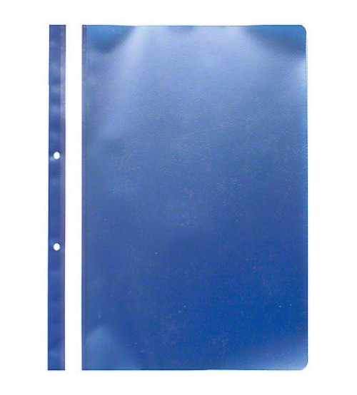 Dosar plastic cu sina, cu gauri, 10 buc/set, Optima - albastru*