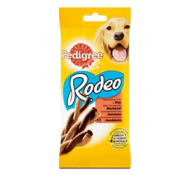 Pedigree Rodeo cu Vita, 8 buc, 140 g