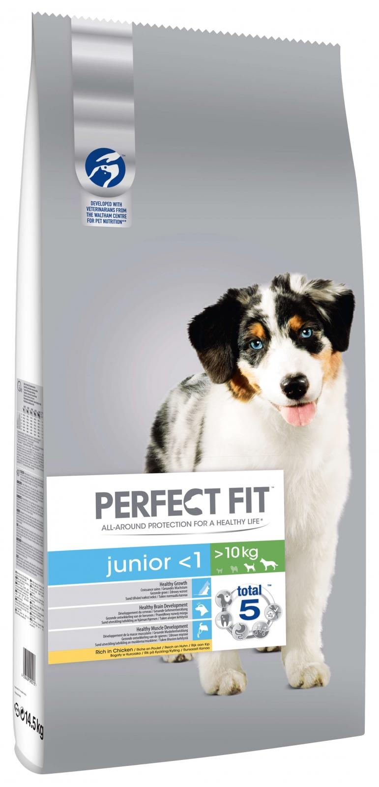 Perfect Fit Dog Junior cu Pui, 14.5 kg