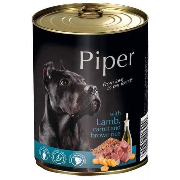 Piper Adult cu Miel, Morcovi si Orez , 400 g, hrana umeda caini