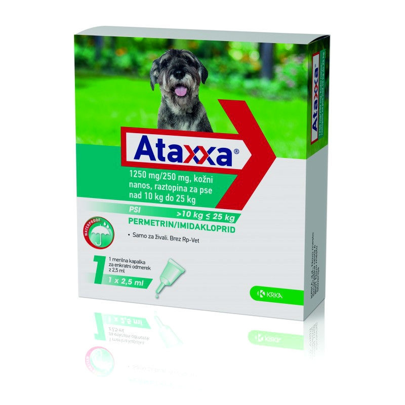 Pipeta Antiparazitara Ataxxa Caine 10-25 kg