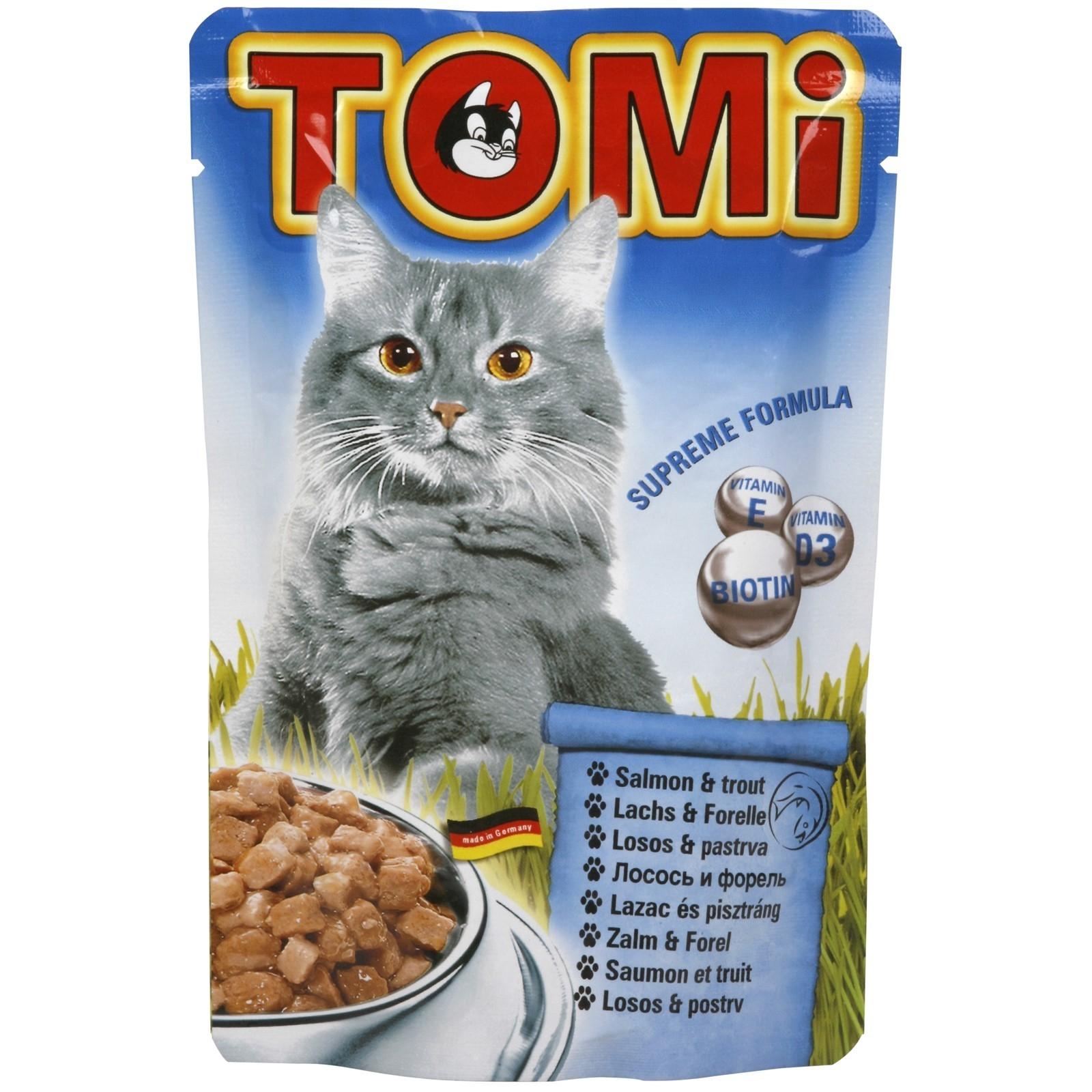 Plic Tomi Cat cu Somon si Pastrav, 100 g