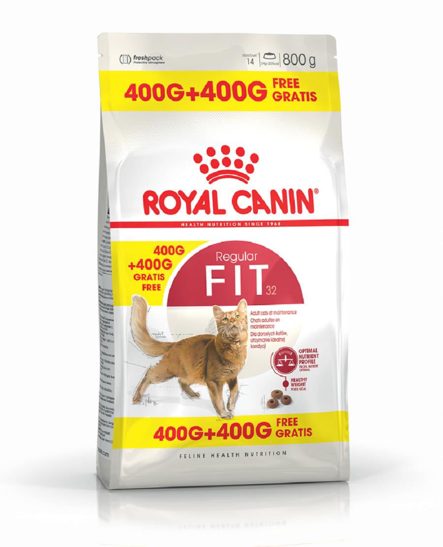 Royal Canin Fit 32, 400 g + 400 g Gratuit