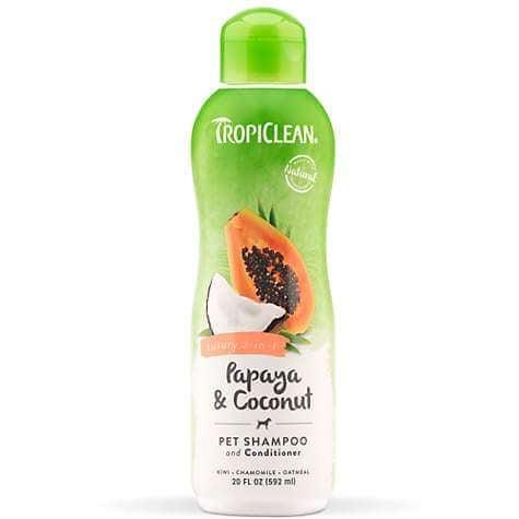Sampon si Balsam TropiClean 2 in 1 Papaya 355 ml