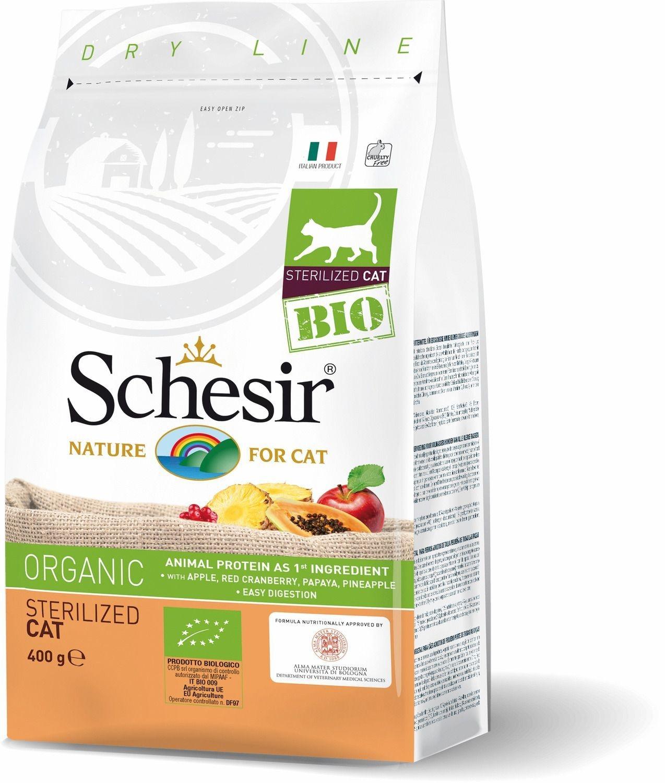 Schesir Cat Bio Adult Sterilised cu Pui, 400 g