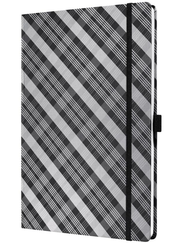 Caiet lux cu elastic, coperti rigide, A4(177 x 260mm), 97 file, Conceptum -modern square design-dict