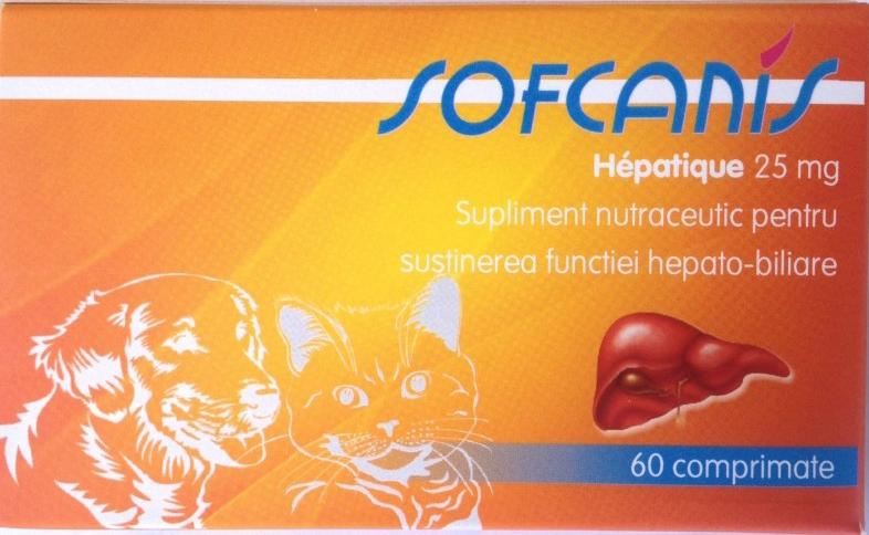 Sofcanis Hepatique 25 mg x 60 comprimate