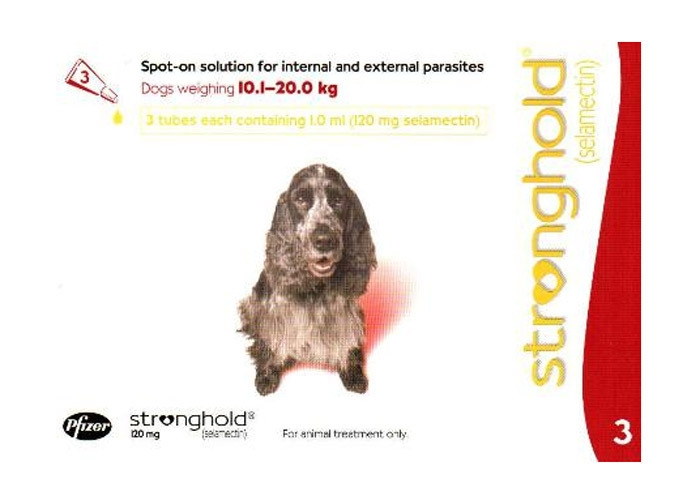 Stronghold Caine 120 mg , 10.1 - 20 kg, 3 pipete