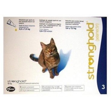 Stronghold Pisica 45 mg, 2.6 - 7.5 kg, 3 pipete