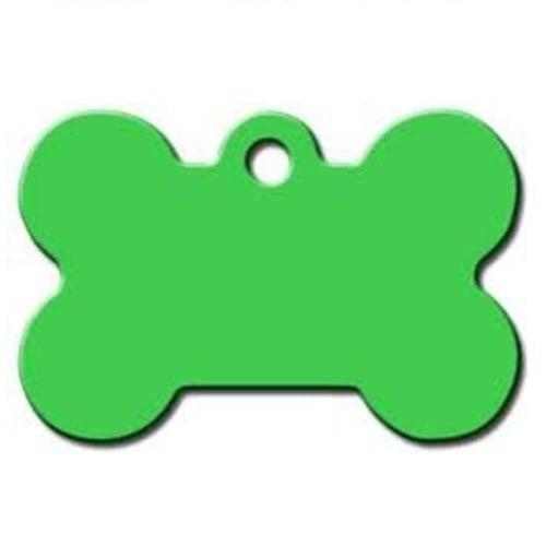 Medalion Aluminiu Os, Verde Lime, Masura L - Gravare Gratuita