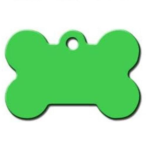 Medalion Tag cu Gravare Gratuita, Os Lime Green S
