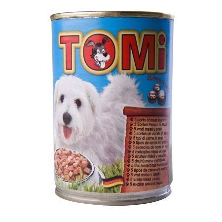 Conserva Tomi Dog cu 5 Feluri de Carne, 400 g