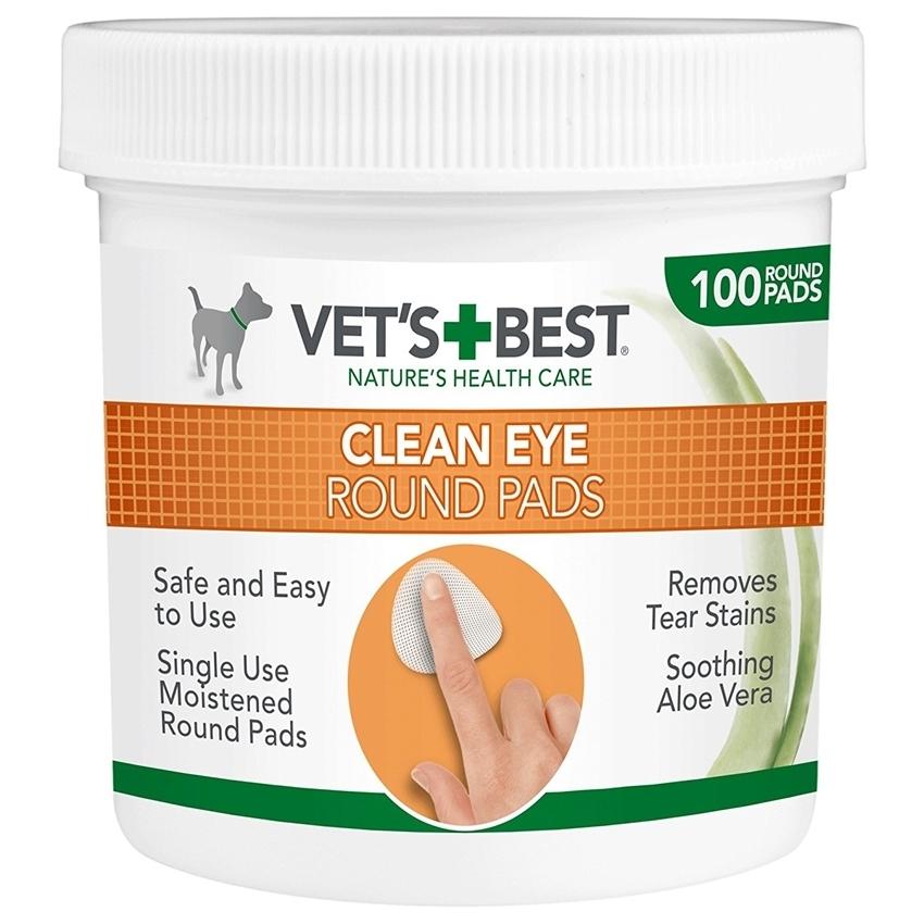 Vet's Best Eye Wipe, Servetele pentru Igiena Ochilor, 100 buc